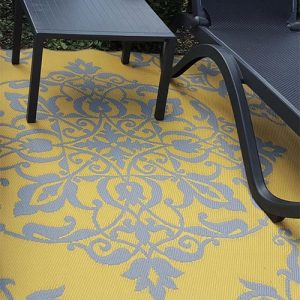 Wrought iron yellow grey