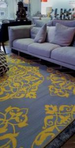 Wrought iron yellow reversed lounge